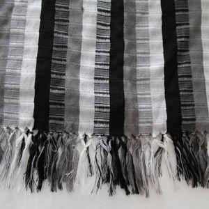 Grey, Black and White Shawl. Brand new, never worn